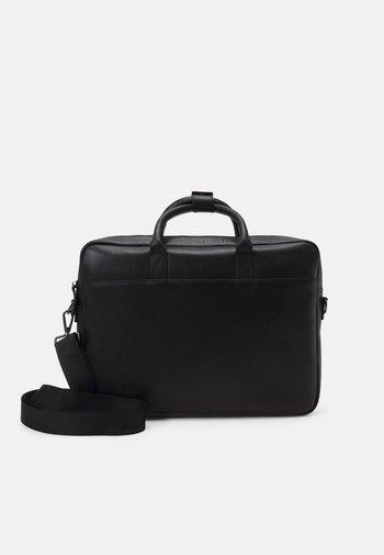 LEATHER UNISEX - Laptop bag - black