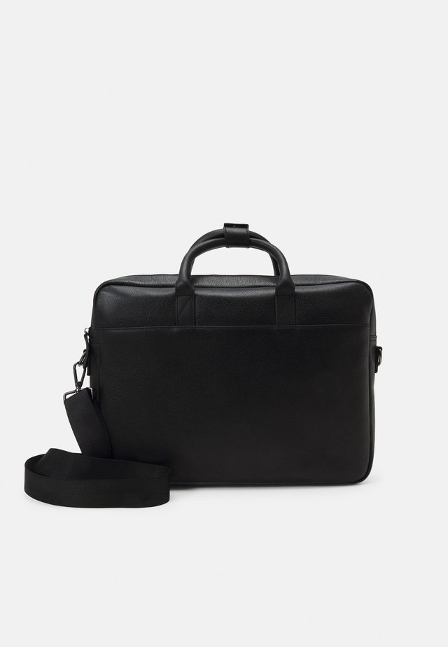 LEATHER UNISEX - Computertasker - black