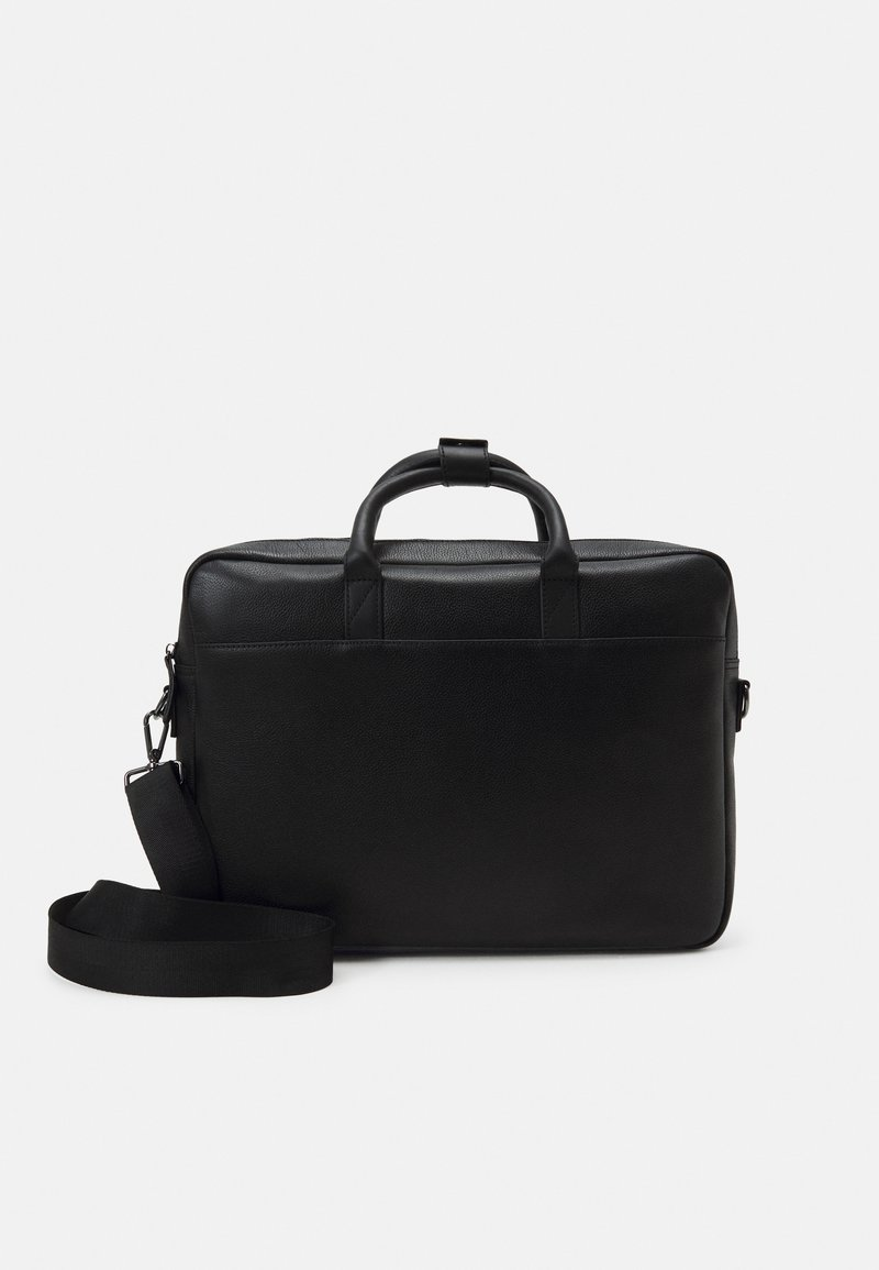 Zign - LEATHER UNISEX - Laptop bag - black