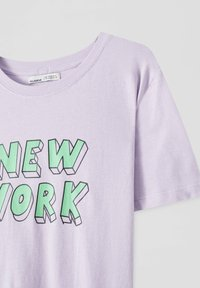 PULL&BEAR - Print T-shirt - purple - 4