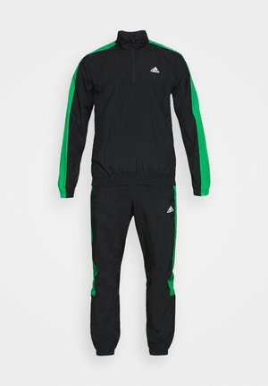 SET - Trainingspak - black/black/vivgreen