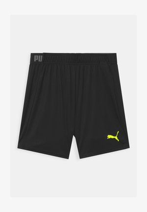 UNISEX - Sports shorts - black/fizzy yellow