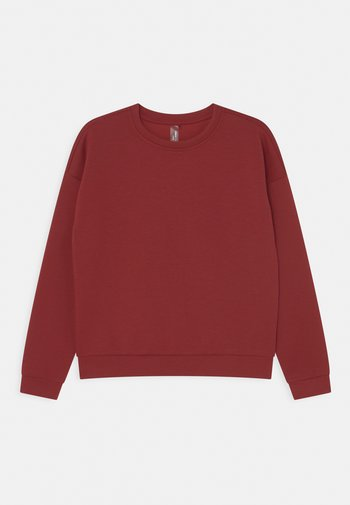 ONPLOUNGE GIRLS - Long sleeved top - sun dried tomato