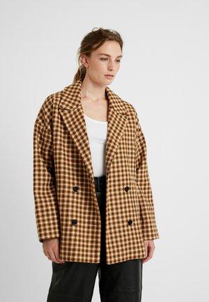 MONIQUEGZ JACKET - Short coat - yellow/blue