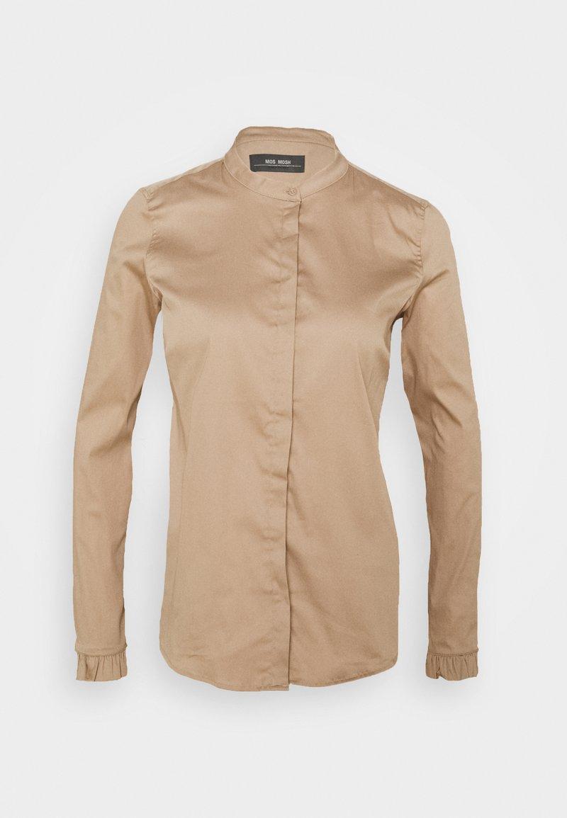 Mos Mosh - MATTIE  - Button-down blouse - light taupe