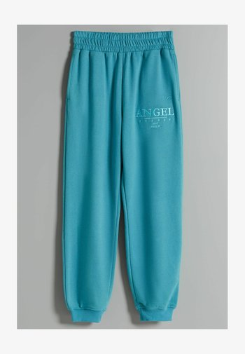 MIT PRINT - Tracksuit bottoms - turquoise