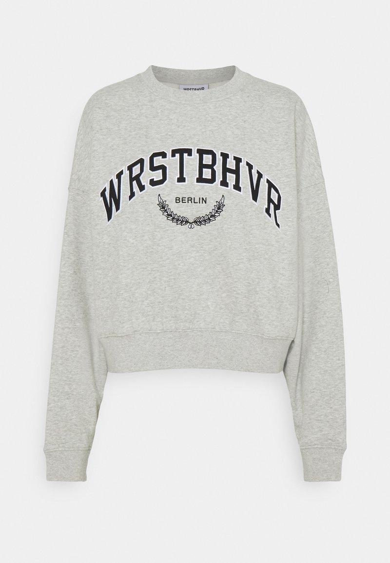 WRSTBHVR - AVA SWEATER - Sweatshirt - grey melange