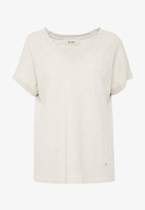 MAYA V-NECK TEE - Basic T-shirt - safari