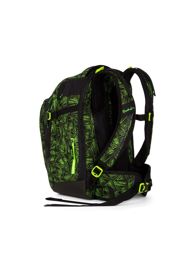 Satch - School Bag Green Bermuda Grüne Dreiecklinien