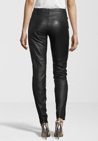 KRISS - Leather trousers - black - 1