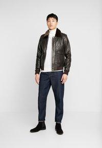 Serge Pariente - PILOT - Leather jacket - dark brown - 1
