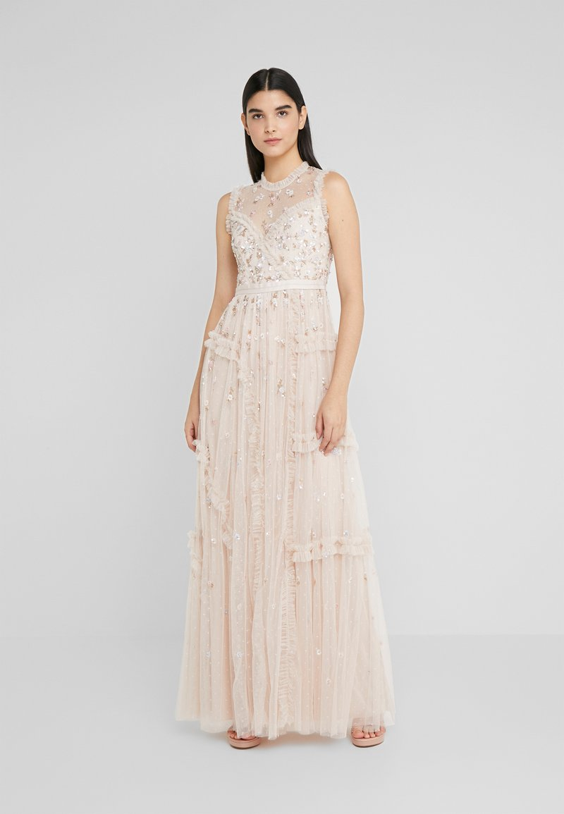 Needle & Thread - SHIMMER DITSY GOWN - Ballkjole - pearl rose
