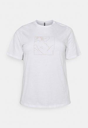 PCLASIE TEE  - Print T-shirt - bright white/laziness