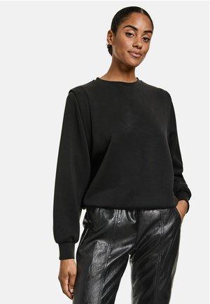 RUNDHALS  MIT SCHULTERBETONUNGRUNDHALS  - Sweatshirt - black