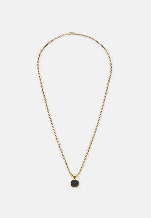 SQUARE PENDANT NECKLACE UNISEX - Ketting - gold-coloured/black