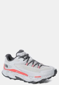 The North Face - TARAVAL - Hiking shoes - microchip grey/fiesta red - 5