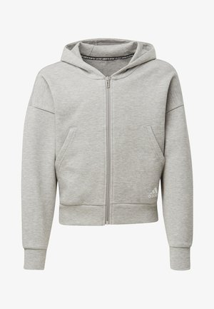 MUST HAVES 3-STRIPES HOODIE - Hoodie met rits - gray