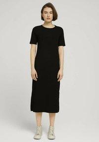 TOM TAILOR DENIM - Jersey dress - deep black - 0