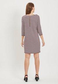 Vila - VITINNY - Day dress - burgundy, white - 2