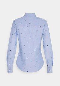 Springfield - CAMISA FILAFIL BORDAD - Button-down blouse - light blue - 1