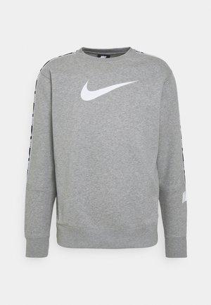 REPEAT CREW - Felpa - grey heather/white/black