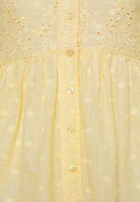 New Look - LEON DOBBY CUTWORK - Camicetta - yellow - 2