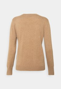 pure cashmere - CLASSIC CREW NECK  - Strikkegenser - dark beige - 1