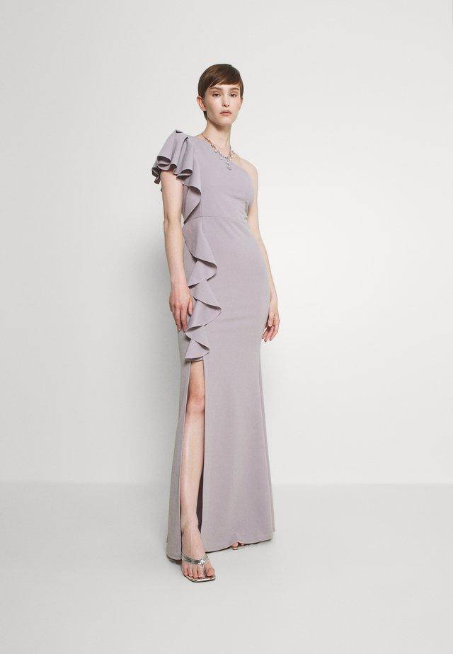 JESSIE FRILL SIDE DRESS - Iltapuku - pearl grey