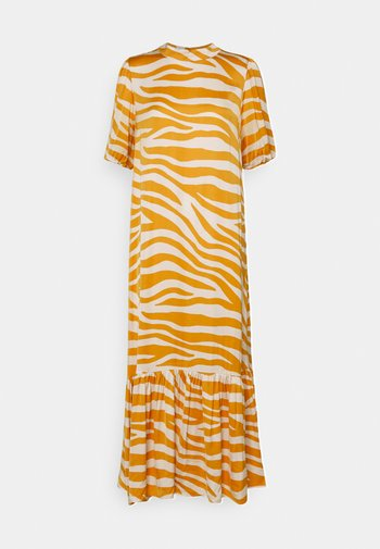 FABIANA DRESS - Vestido largo - fall leaf zebra