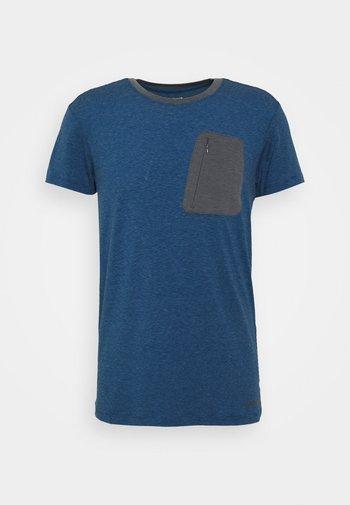 MUNDEN - Print T-shirt - navy blue