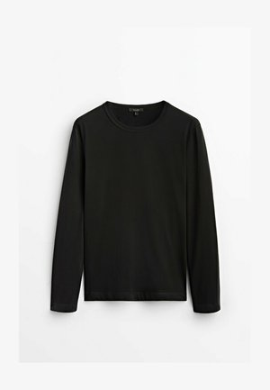 MIT RUNDHALSKRAGEN - Långärmad tröja - black