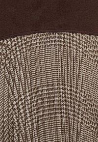 Polo Ralph Lauren - PAPA SHORT SLEEEVE DAY DRESS - Jumper dress - brown - 5