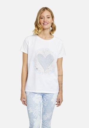 T-shirts print - light blue print
