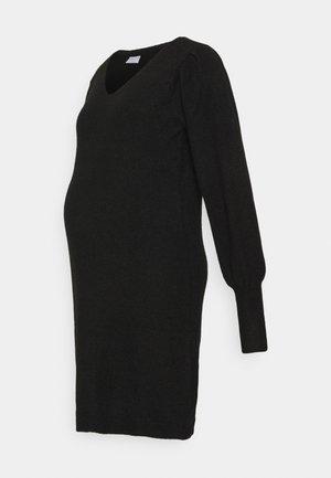 PCMPAM VNECK DRESS - Jumper dress - black