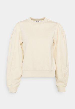 PUFF SLEEVE - Sweatshirt - beige