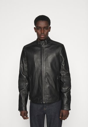 THOMAS JACKET - Leather jacket - black