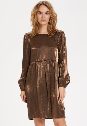 Cocktail dress / Party dress - antique gold metallic