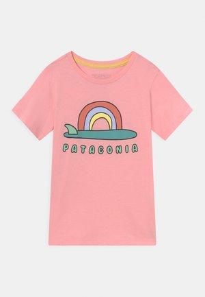 GRAPHIC ORGANIC UNISEX - T-shirt imprimé - rosebud pink