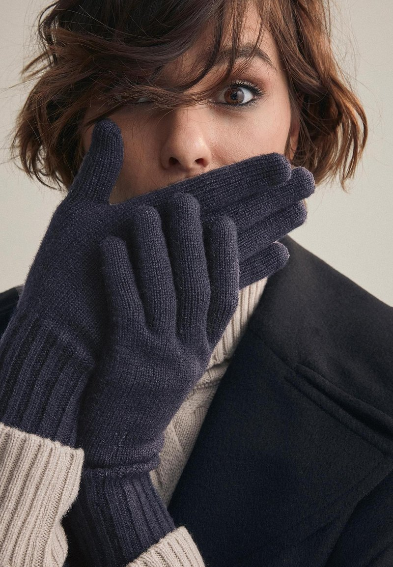 Falconeri - Gloves - blue navy
