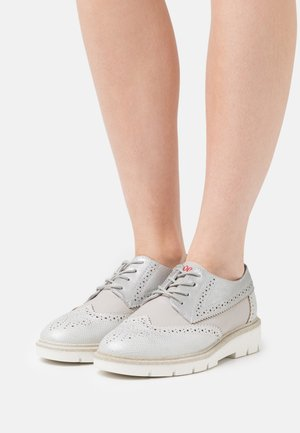 LACE UP - Derbies - silver