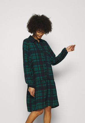 Oversized - Shirt dress - green/blue