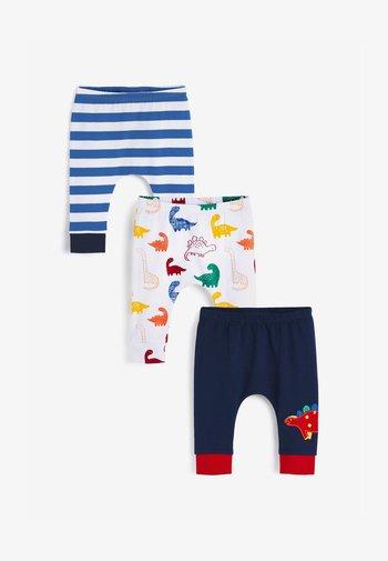 3 PACK  - Leggings - Trousers - light blue white