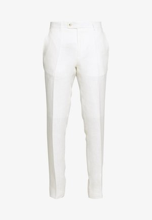 CRAIG NORMAL - Suit trousers - white