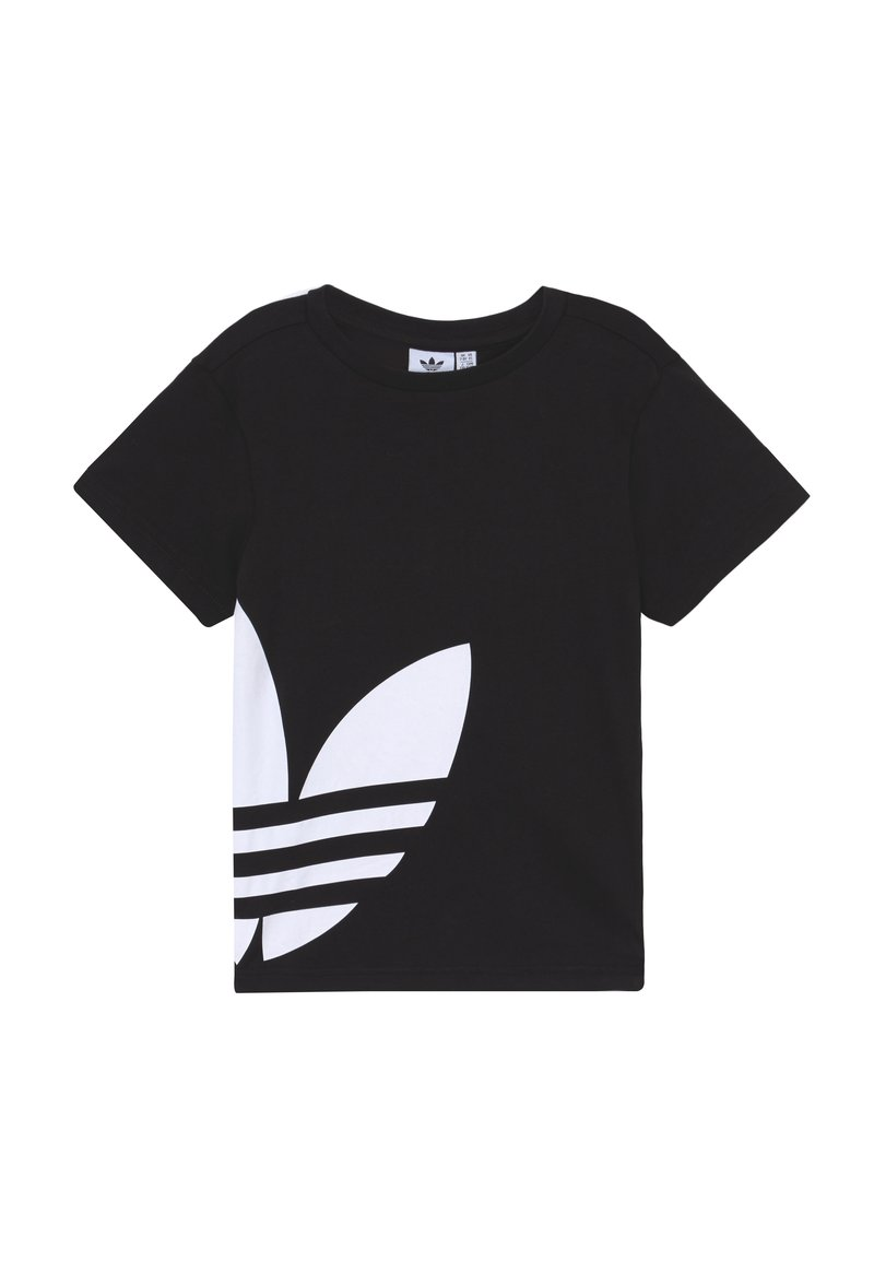 adidas Originals - BIG TREFOIL - T-shirt con stampa - black/white