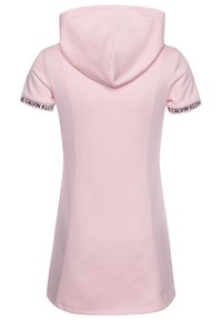 Calvin Klein Jeans - LOGO INTARSIA HOODED DRESS - Day dress - pink - 1