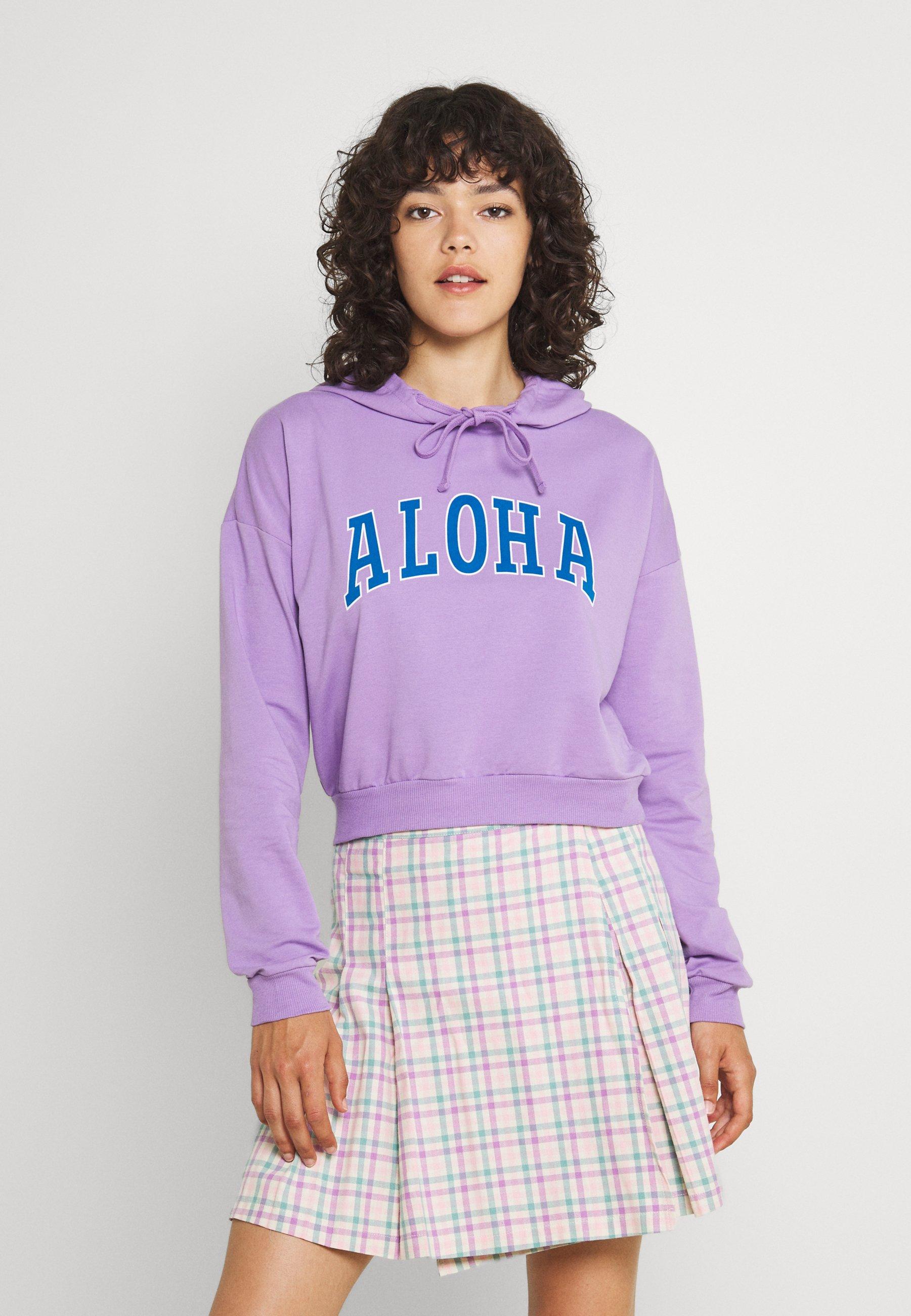 Women PCALOHA CROPPED HOODIE - Sweatshirt