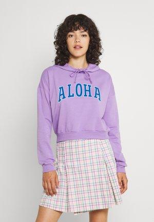 PCALOHA CROPPED HOODIE - Collegepaita - sheer lilac