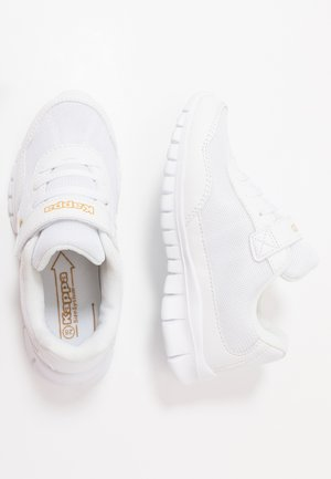 FOLLOW - Sports shoes - white/gold