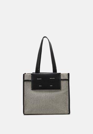 LARGE COATED TOTE - Handbag - optic white/black