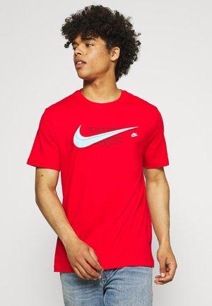 COURT TEE - T-shirt med print - university red